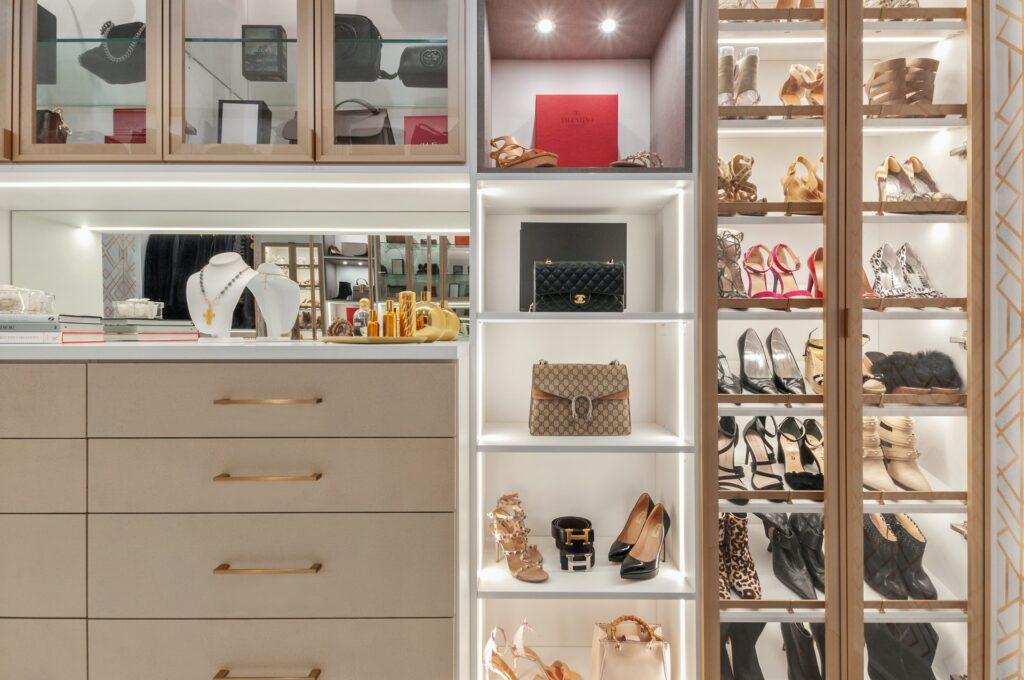 gold closet design
