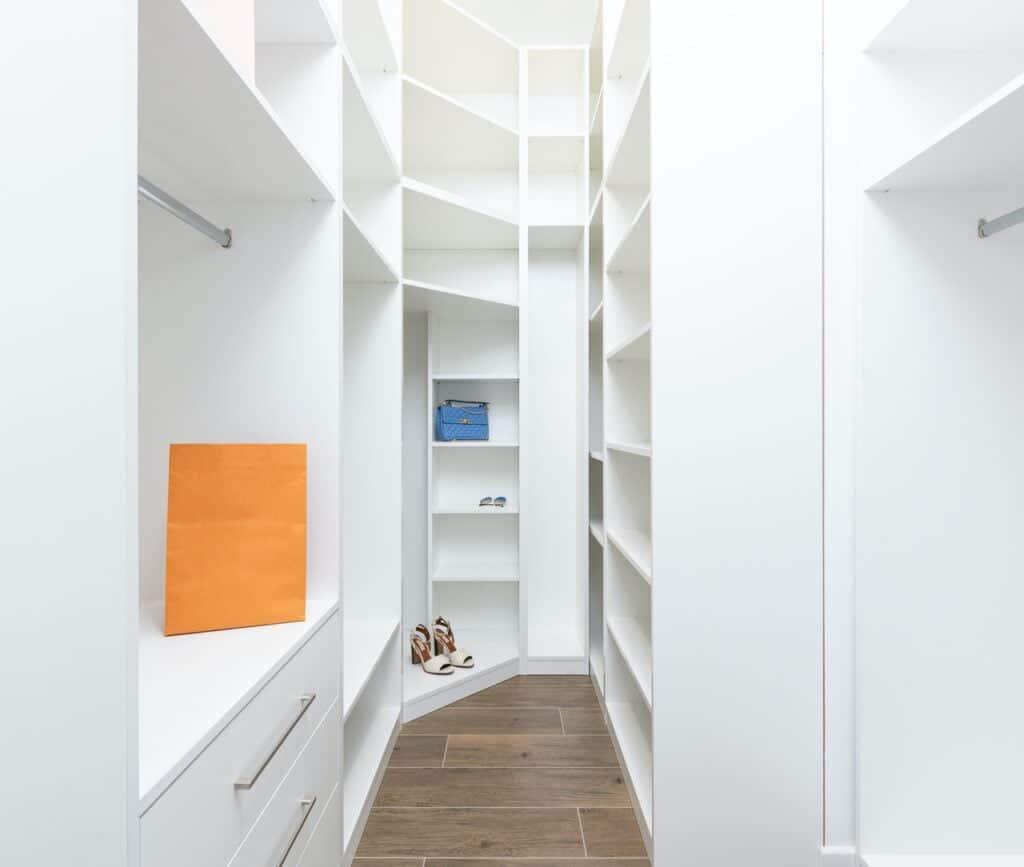 walk-in closet storage
